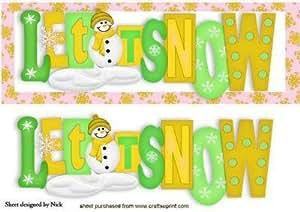 LET IT SNOW en Navidad dorado Palabras DL por Nick Bowley