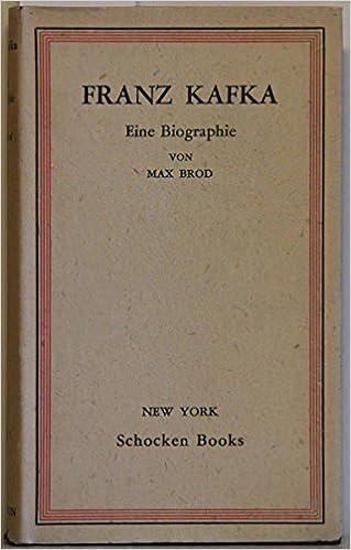franz kafka eine biographie erinnerungen und dokumente 2 auflage amazonde franz brod max kafka bcher - Franz Kafka Lebenslauf