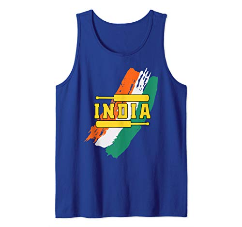 India Cricket (Brushstroke Throwback) Tank Top (Brushstroke Tank)