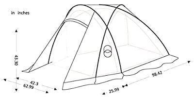 KingCamp™ Apollo Light PU Waterproof 5000mm, Durable Tear Resistant Windproof 2-Person Tent for Mountaineering, Trekking and Hiking
