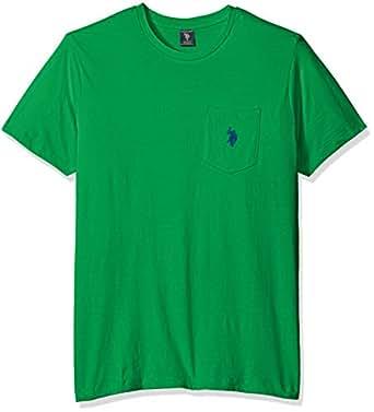 u s polo assn men\u0027s crew neck pocket t shirt (color group 2 of 2  Neu Ragman 070 Marine Poloshirt Herren Online Bestellen P 1285 #6