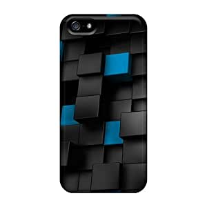 CaterolineWramight Cases Covers For Iphone 5/5s - Retailer Packaging 3d Cubes Protective Cases