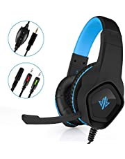 Lorima Gaming Headset for Gamers,Surround Stereo Gaming Headphones with Noise Reduction Mic,Soft Earmuffs &Easy to Use Volume Switch for PS4,Xbox,Laptop, Mac,PC,Computer Games—Black