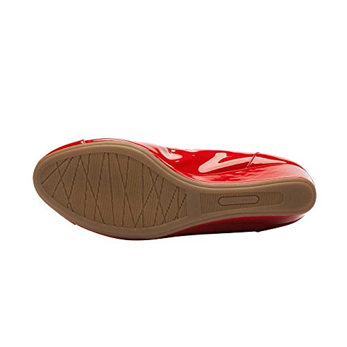 PIC/PAY Trish Women's Pumps - Round Toe Wedge Pump Red Patent Pu affordable online FJNwMH