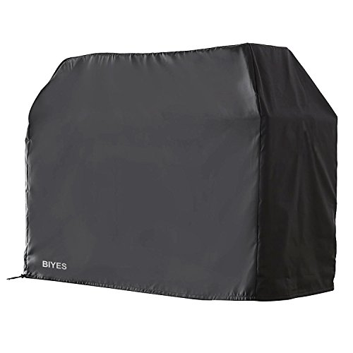 BIYES Gas Grill Cover, 600D Heavy Duty Waterproof BBQ Grill Cover Fits for Most Brands of Grill, Durable Barbecue Cover (Black)