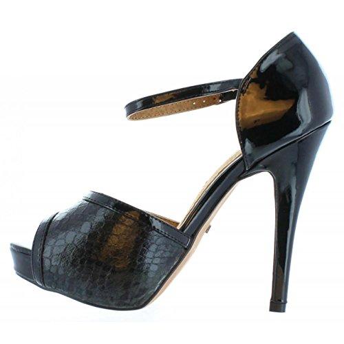 Maria Mare Schuhe Ferse Für Damen 65715 Charol Negro Schuhgröße 38