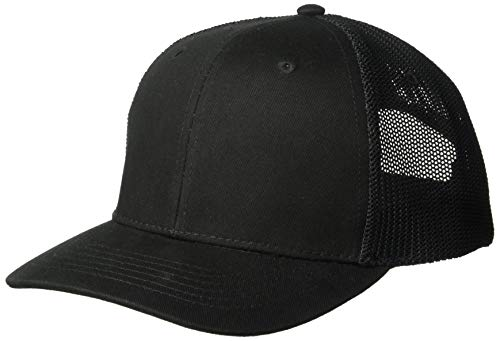 Ouray Sportswear Heavy D Poly Mesh Cap, Black/Black, Adjustable