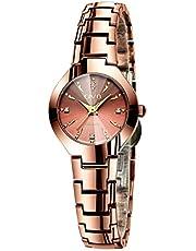 CIVO Frauen Uhr Damen Edelstahl Wasserdicht Minimalism Analog Armbanduhren Rose Gold Sport Mode Outdoor Quarz Uhren für Damen (6 Rosagold)