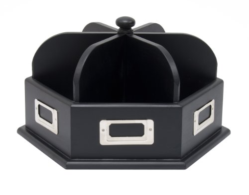 Studio Designs Wood Desk Carousel in Black 12166
