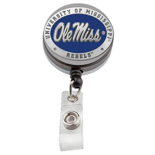 1pc, Pewter University of Mississippi Badge Reel (Chimes Wind Mississippi)