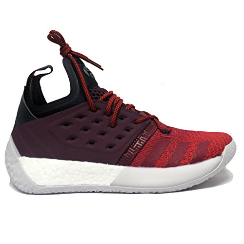 adidas Men's Harden Vol 2 Basketball Shoe Red/White Size 11.5 M -