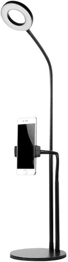 Fill light ZHAOSHUNLI Double Device Microphone Mobile Live Stand Multi-Function Beauty Desktop Color : White, Size : Microphone Clip Style