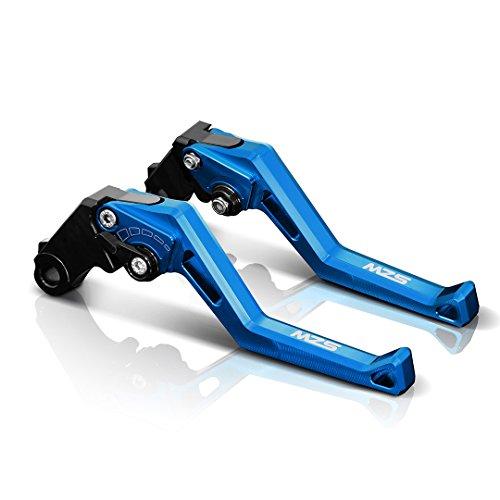 MZS Adjustment Brake Clutch Levers for Suzuki GSXR600 1997-2003,GSXR750 1996-2003,GSR750/GSXS750 2011-2016,GSXR1000 01-04,GSR600 06-11,SFV650 Gladius 09-15,DL650/V-Strom 11-12,TL1000S 97-01 Blue
