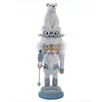 Hollywood Nutcrackers Kurt Adler Polar Bear Nutcracker, 17-Inch
