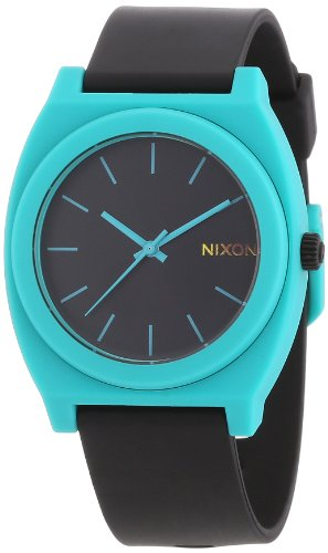 Nixon A119-2060 The Time Teller P Black Teal Watch