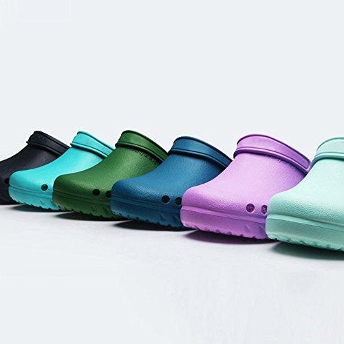 fereshte Slippers Unisex Classic Garden Blue Clogs Heathcare Nursing Holes Green Shoes rwrYxqfS
