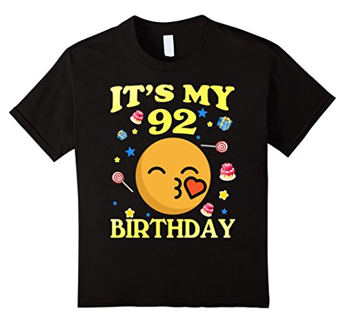 Kids It's My 92nd Birthday Shirt 92 Years Old 92nd Gift For Women 12 Black (Gifts For 92 Year Old Woman)
