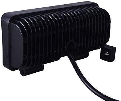 lumiere de voiture 12-24V Viugreum phare de travail led 18W blanc froid 6000-6500k pour Offroad SUV UTV Lampe de Travail ATV Tracteur Pelleteuse Camion Voiture IP67 imperm/éable
