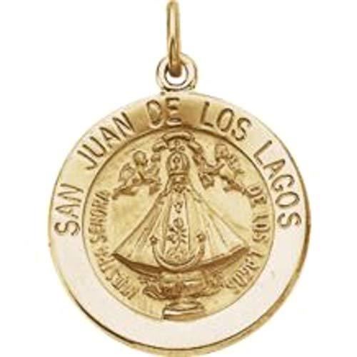 Bonyak Jewelry 14k Yellow Gold 18.25 mm Round San Juan de Los Lagos - Los De Medal Lagos