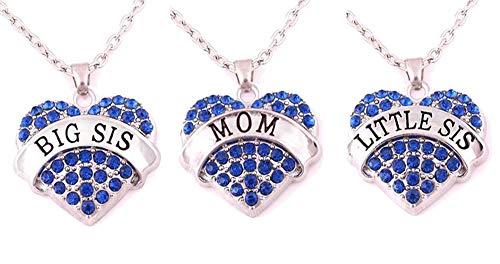Mommys Little Girl Charm - Charm.L Grace Matching Necklaces Set, 3pcs(3BU-M)