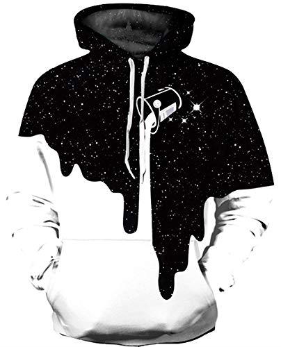 KIDVOVOU Men Women 3D Digital Print Hoodies Pullovers Sweatshirts,S/M - Pattern Digital