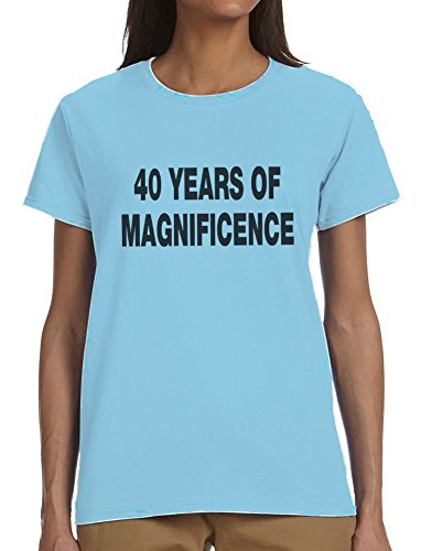 40 Years Of Magnificence Ladies T-Shirt Blue Large