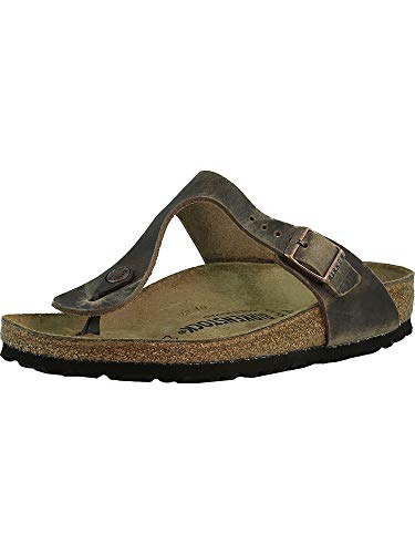 (Birkenstock Women's GIzeh Thong Sandal, Tobacco Brown Leather, 39 M EU/8-8.5 B(M) US)