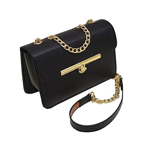Capacity Black Bag Women's Wax Wallet Bag Shoulder Crossbody Large Clutch Leather Handbag Purse Card Holder w6E6q