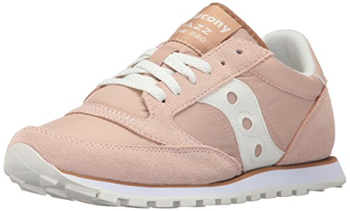 Saucony Jazz Low Pro - Saucony Originals Women's Jazz Lowpro Sneaker,Tan White,11 Medium US