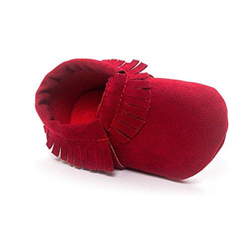 ESHOO bebé borla zapatos suela suave Candy Color Prewalker zapatos de cuna 0–18M C Talla:6-12 meses D