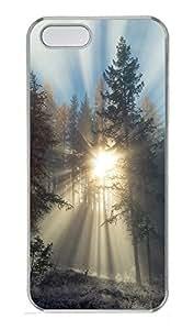 iPhone 5 5S Case landscapes nature sunlight trees 39 PC Custom iPhone 5 5S Case Cover Transparent