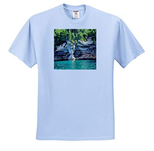 (3dRose Dreamscapes by Leslie - Scenery - Sandstone Vase - Adult Light-Blue-T-Shirt Medium (ts_314278_51))