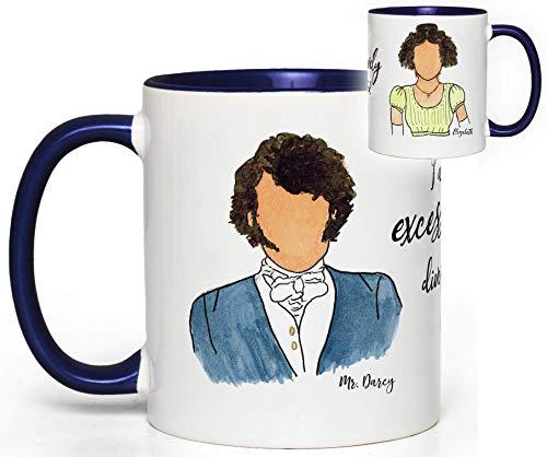 Pride and Prejudice (Elizabeth & Mr. Darcy) Book Quote Mug Fan Gift