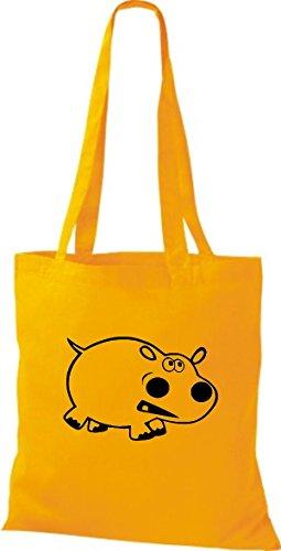 De Mujer Algodón Bolso Tela Shirtstown Amarillo Para Goldgelb H4zawngq