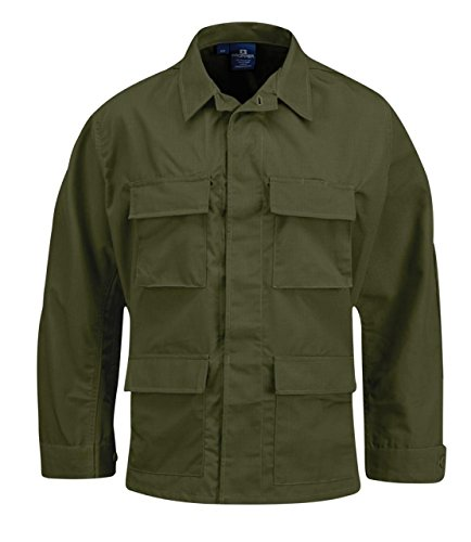 Propper BDU 4-Pocket Coat, 60/40 Cotton/Poly Twill, Large-Long, Olive F545412330L3 - Body Special Armor Operations