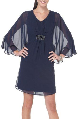 Vêtements Connectés Bleu Marine Robe De Superposition Pure Embelli