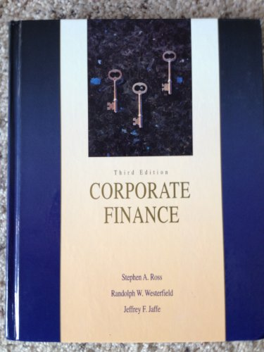 corporate finance ross westerfield jaffe 10th edition solutions manual