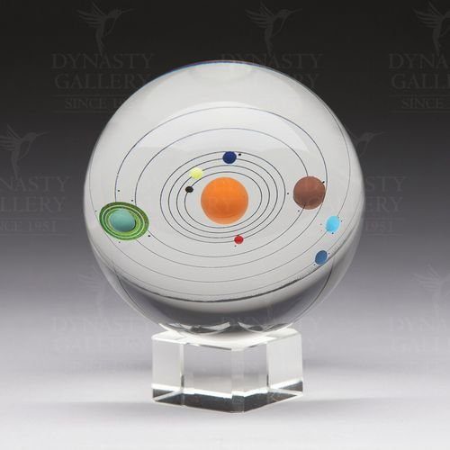 Dynasty Gallery Decorative Glass Sphere Solar System by Dynasty Gallery