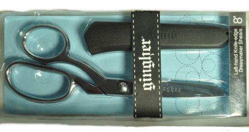 8 Bent Left Handed Scissors - Gingher 8 Inch Left Hand Dressmaker Shears