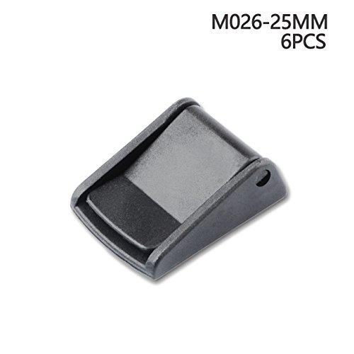 Multi-size Cam Buckle Webbing Buckle Plastic Adjustable Buckles Toggle Clip (6pcs,25mm)