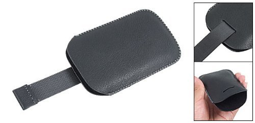 5800 Leather (DealMux Black Soft Pull up Faux Leather Pouch for Nokia 5800)