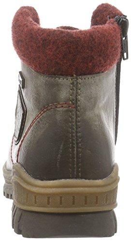 Rieker Kinder K3677 Mädchen Combat Boots Grau (cigar/bordeaux/wine / 25)
