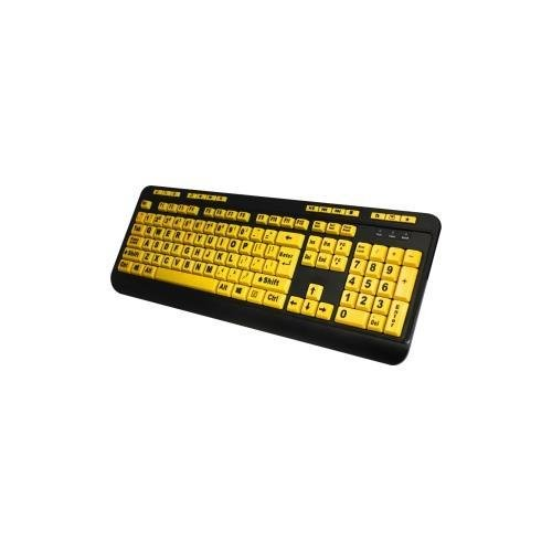 Adesso AKB-132UY - EasyTouch 132 Florescent Yellow Multimedia Desktop Keyboard