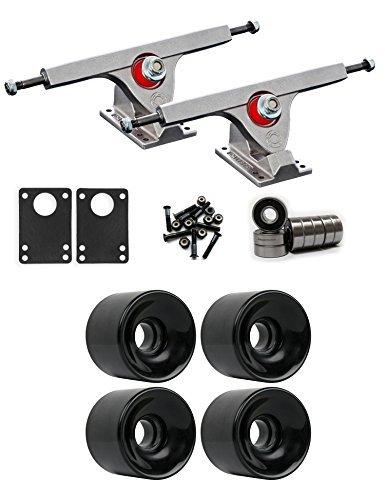 Caliber Raw Longboard Trucksホイールパッケージ65 mm x 51.5 MM 83 Aブラック [並行輸入品]   B078WTR1L7
