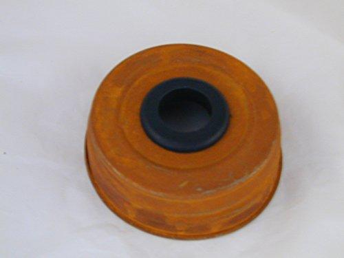Set of (2) Mason Jar Taper Candle Holder Converter - Rusty Lid