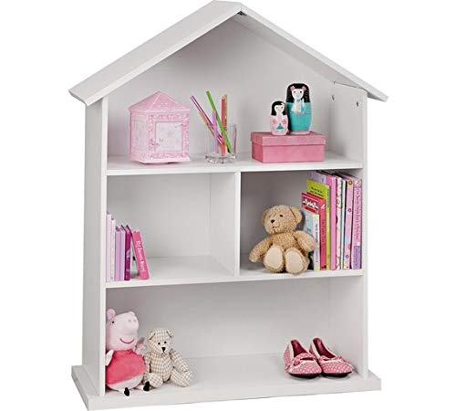 Home Mia Bambole libreria–Bianco Home Mia Dolls House Bookcase - White
