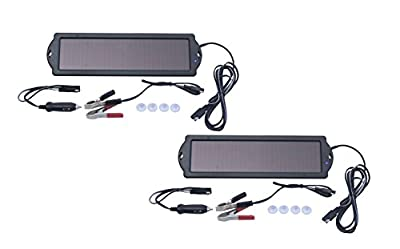 Nature Power 1.5W Solar 12V Battery Maintainer, (2-Pack)
