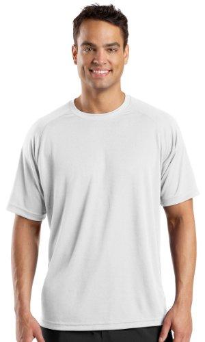 Sport-Tek Men's Raglan Athletic T-Shirt, White, XX-Large. (Pack of 10) by Sport-Tek