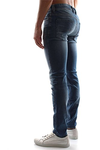 Denim Blue Medium Vaqueros Hombre para Sleenker Diesel Skinny qRgwH