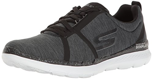Skechers Performance Womens Go Flex Train Walking Shoe Black/White Heather